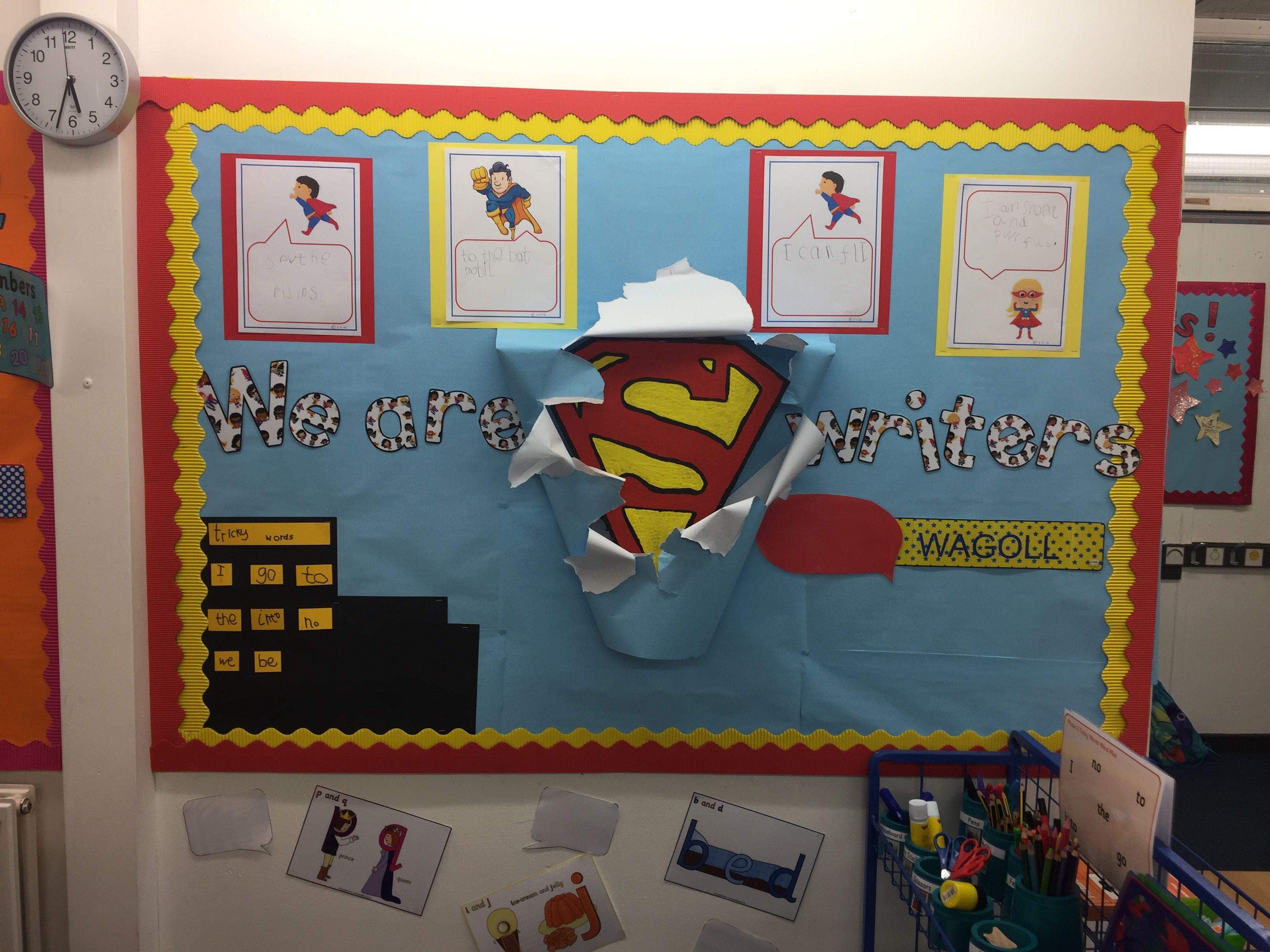 Superhero Writing Area Display