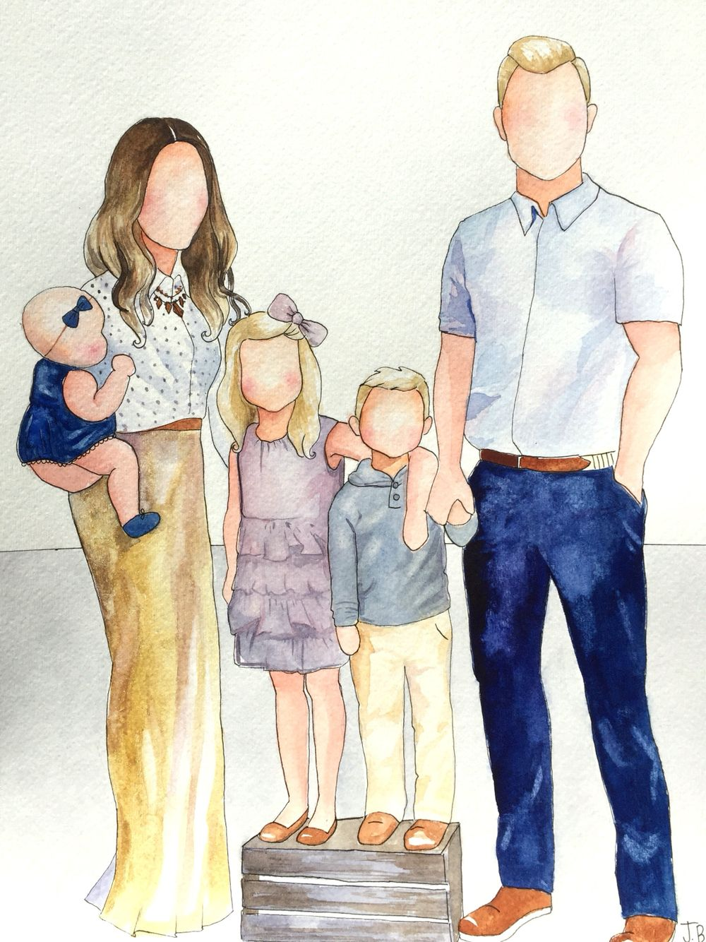 Семья картинки зарисовки