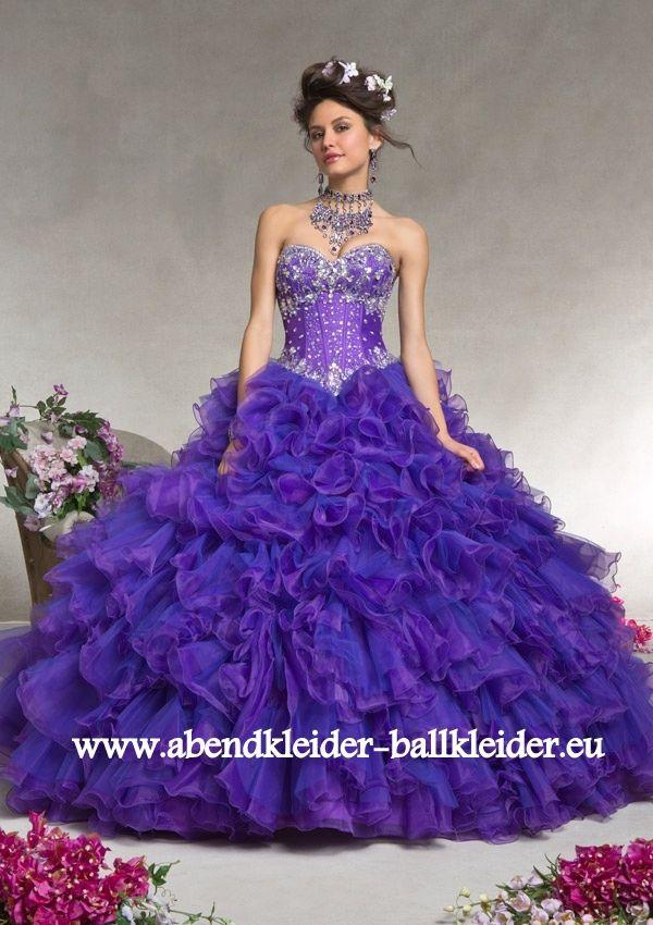 Organza Abendkleid - Ballkleid Online in Lila www.online-mode-1.de ...