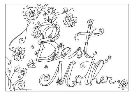Mother\'s Day Colouring Pages | Coloring pages | Pinterest | Happy ...