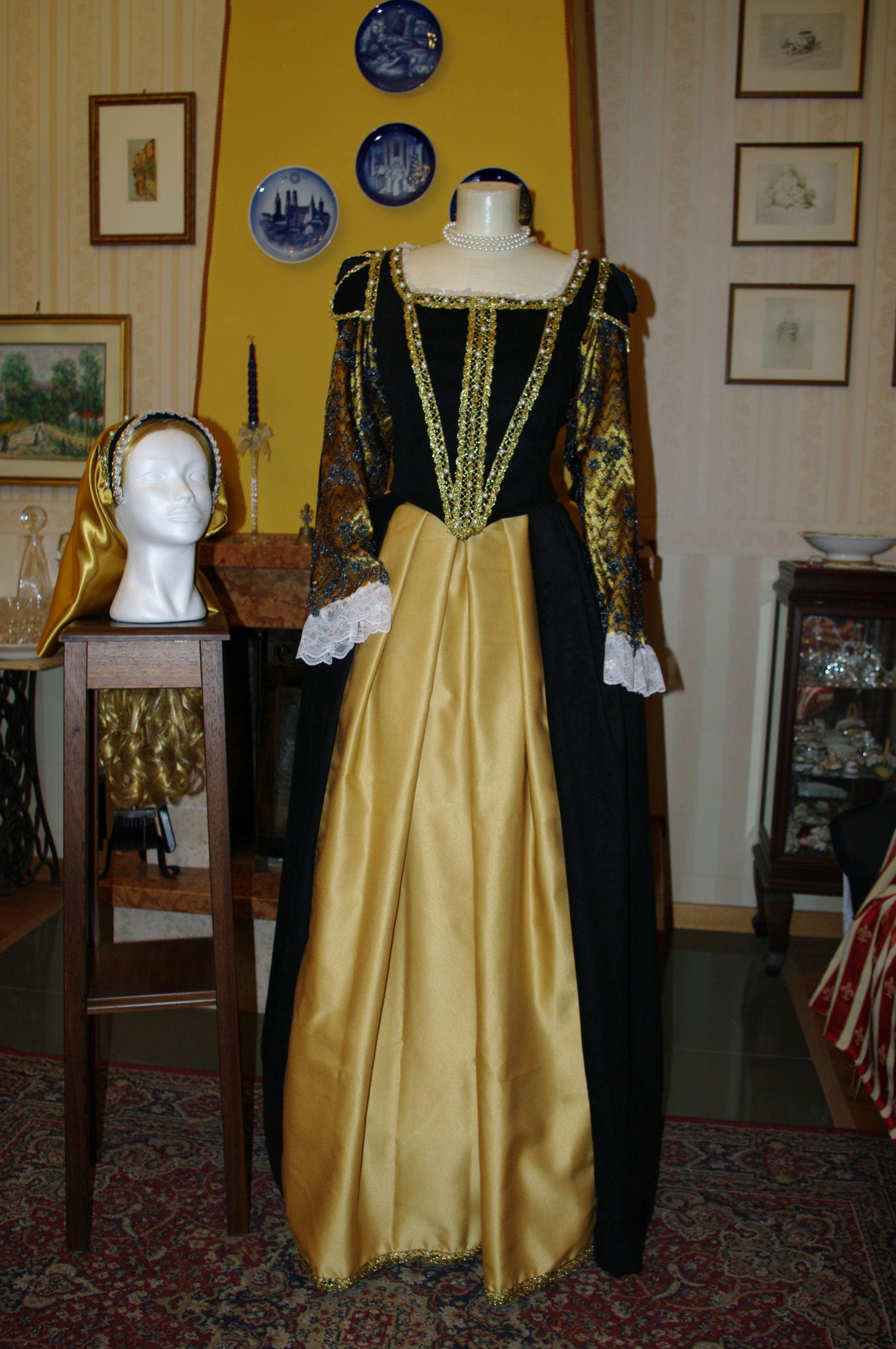 ee9a4774a944 ABITI STORICI FEMMINILI 1500 INGLESE Abito costume storico femminile 1500  inglese