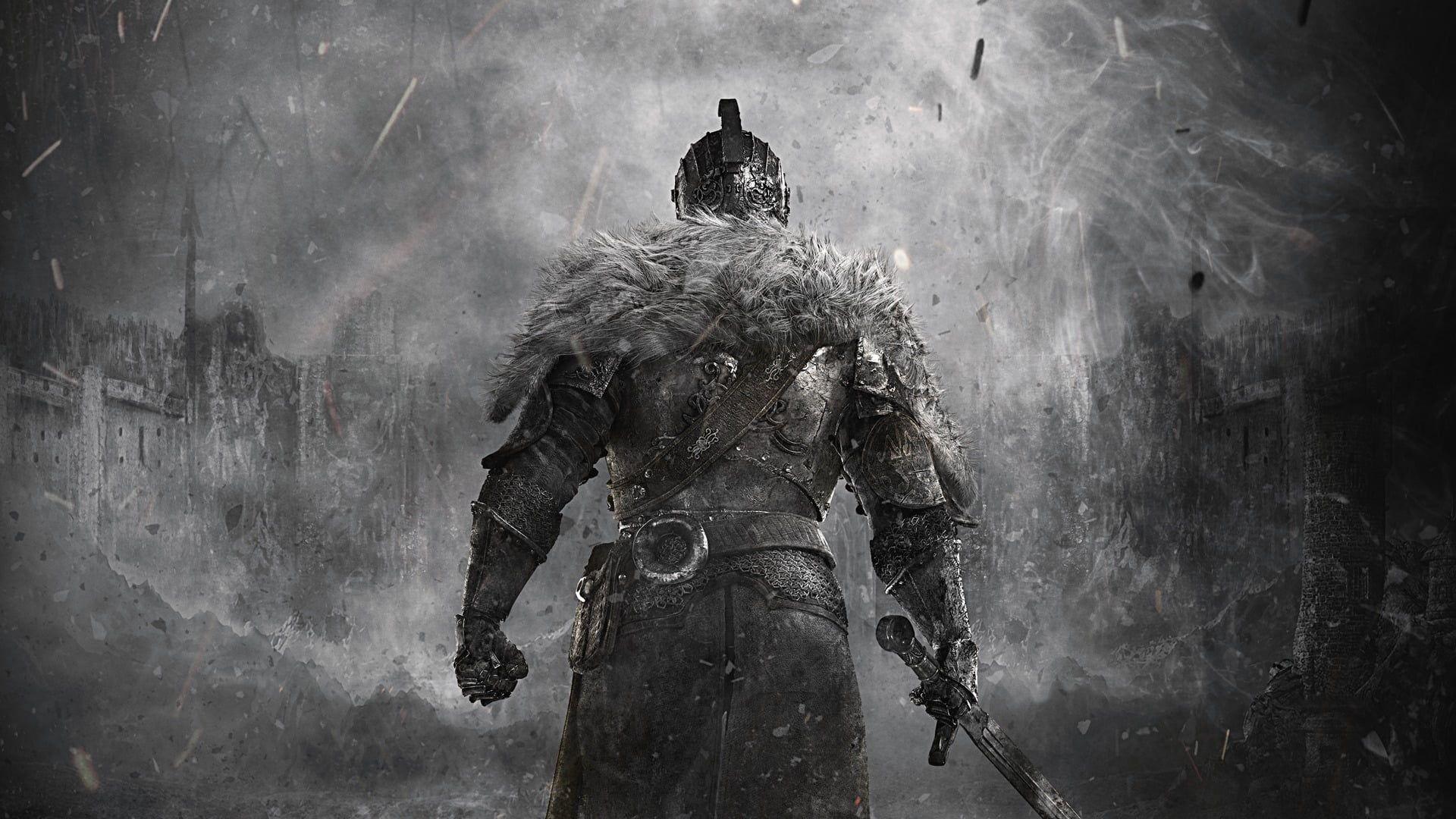 Warrior Wallpaper Dark Souls Ii Warrior Sword Dark Souls 1080p Wallpaper Hdwallpaper Desktop In 2020 Dark Souls Warriors Wallpaper Dark Souls 2