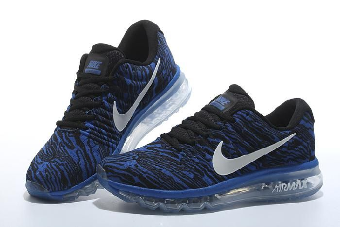 huge sale 6b37a a9cad Best Nike Air Max 2017 Navy Blue Black Stripe Sports Shoes Sale Hot -  74.99