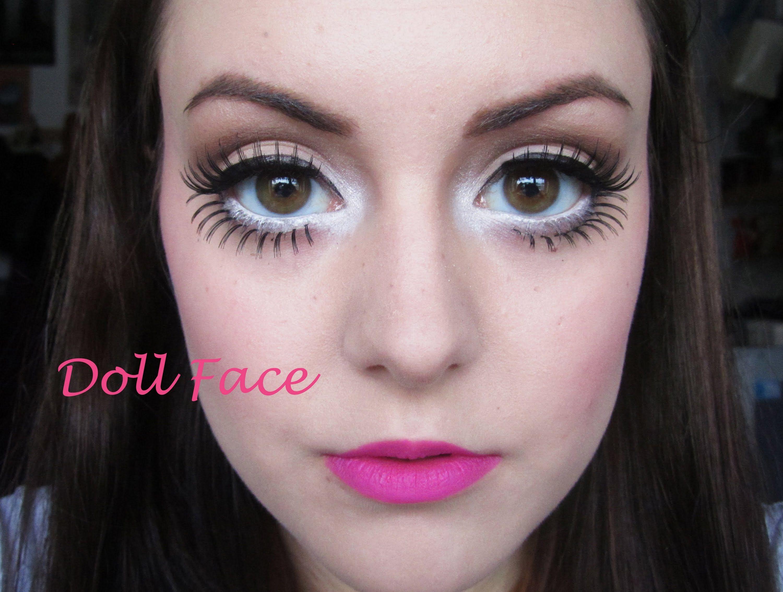 Dukke ansigt - Store dukke øjne, blege hudfregner perfekt-6431