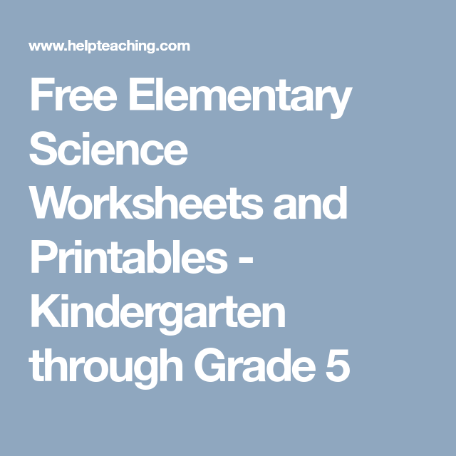 Free elementary science worksheets and printables kindergarten free free elementary science worksheets and printables kindergarten through grade 5 ibookread Read Online
