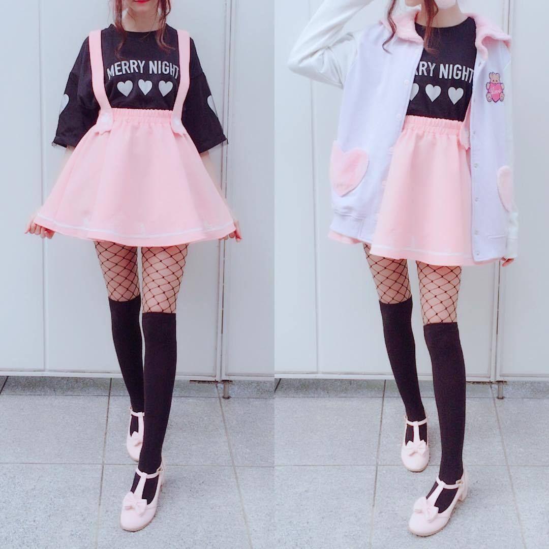 Cute stretchy kitty skirt san51 kawaii fashion outfits