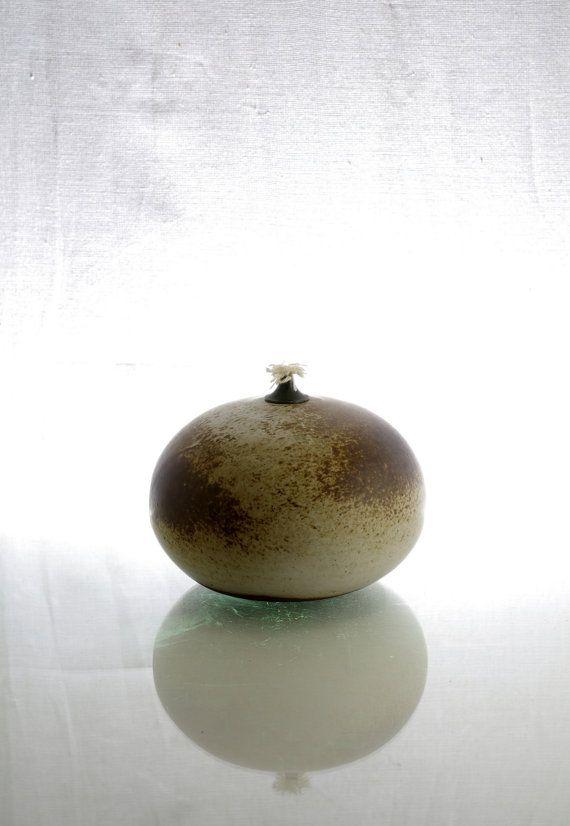 Aage Wurtz Large Mid Century Stoneware Oil Lamp Made In Denmark Oil Lamps Stoneware Mid Century