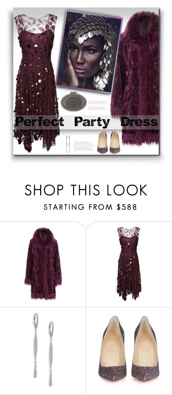 """Holiday Sparkle"" by fassionista ❤ liked on Polyvore featuring Anna Sui, Nina Ricci, Meira T, Christian Louboutin and partydress"