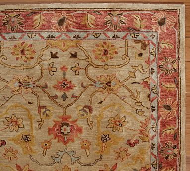 Warm Worn Reddish Oriental Style Rug Elham Persian Potterybarn