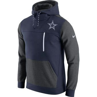 Nike AV15 Fleece Pullover (NFL Steelers) - Black/Charcoal Heather/White - Men's Hoodie
