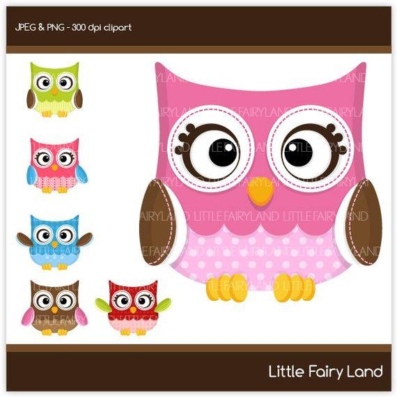 CA65 Chic Polkadot Owl digital clipart cute by