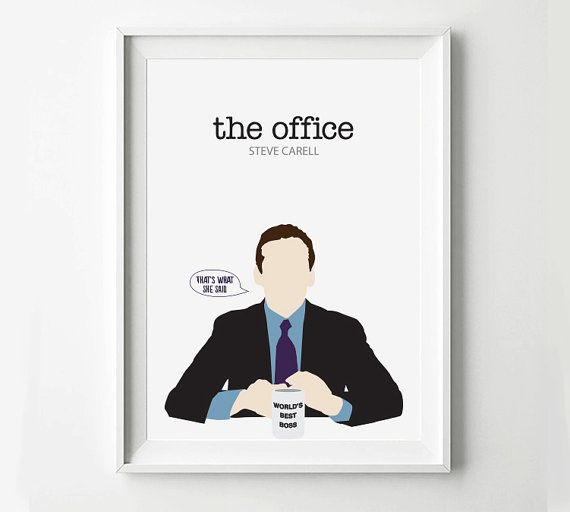 the office posters. The Office Michael Scott TV Show Poster - Poster, Minimalist Wall Quote Print, Digital Art Print Posters