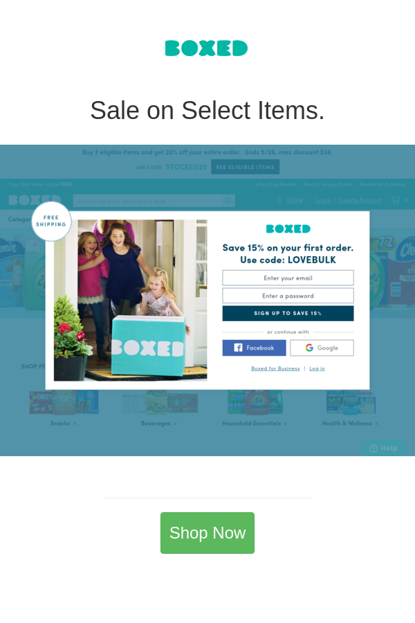 Boxed Coupon Codes Cash rewards, Baby items, Discount