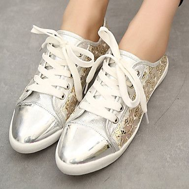 Women's Shoes Leatherette Flat Heel Fashion Boots / Comfort Fashion Sneakers Outdoor / Casual Black / White 2016 – $27.79