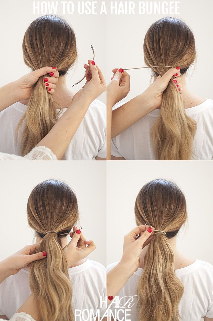 Perfect Ponytails How To Use A Hair Bungee And Hide Your Hair Elastic Hair Romance Perfect Ponytail Girl Hair Dos Hair Tie Hairstyles