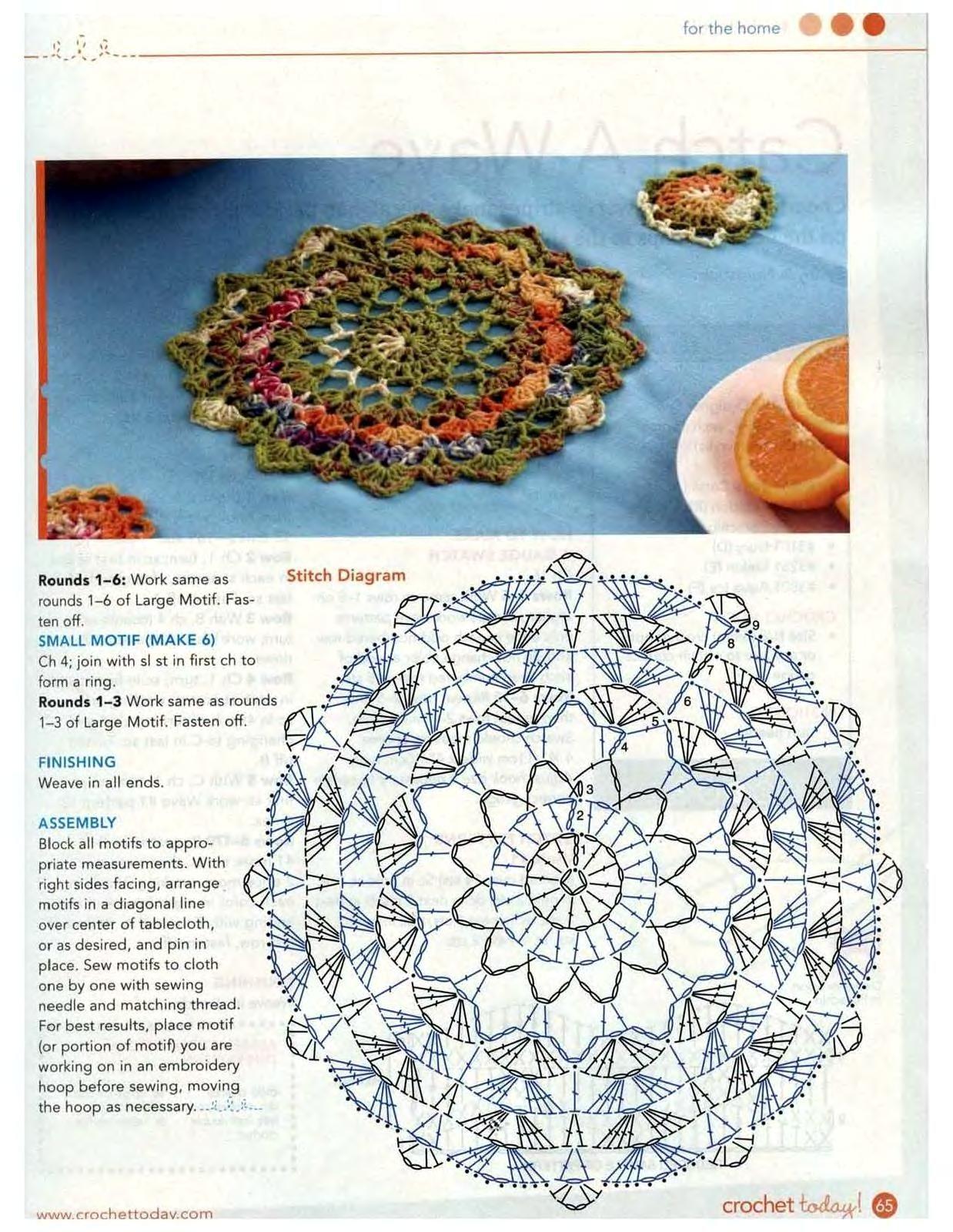 Puntadas de Mary: carpetita a crochet   Háčkování - Crocheting ...