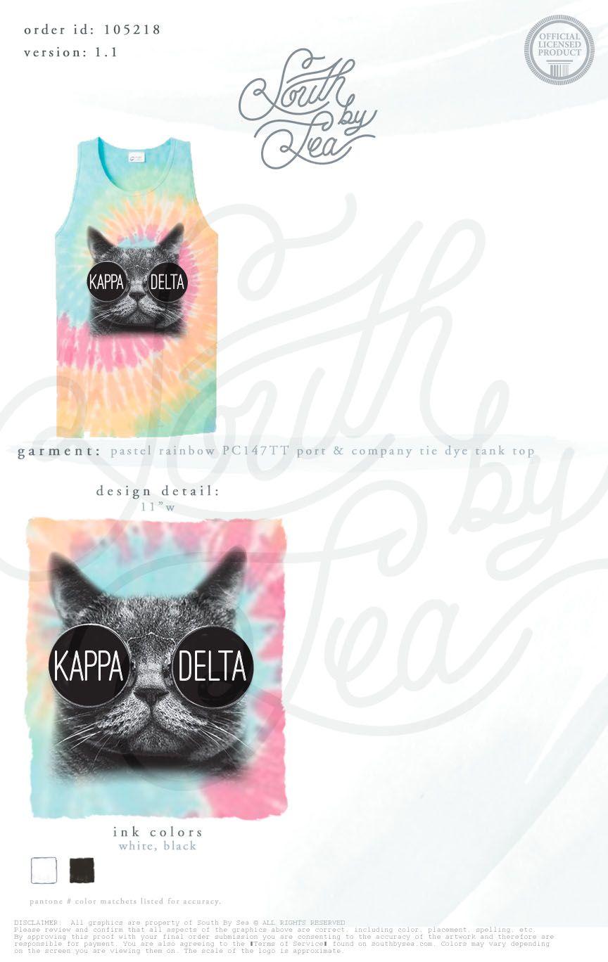 546699eb1f02f8 Kappa Delta Tie Dye Cat Shirt