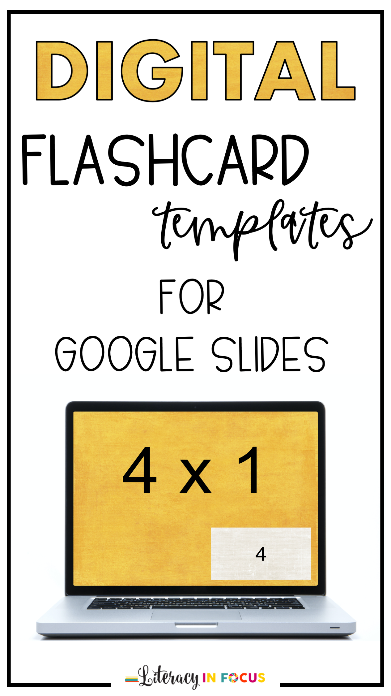 Digital Flashcard Templates Distance Learning Google Classroom Flashcards Google Classroom Teaching Multiplication Facts