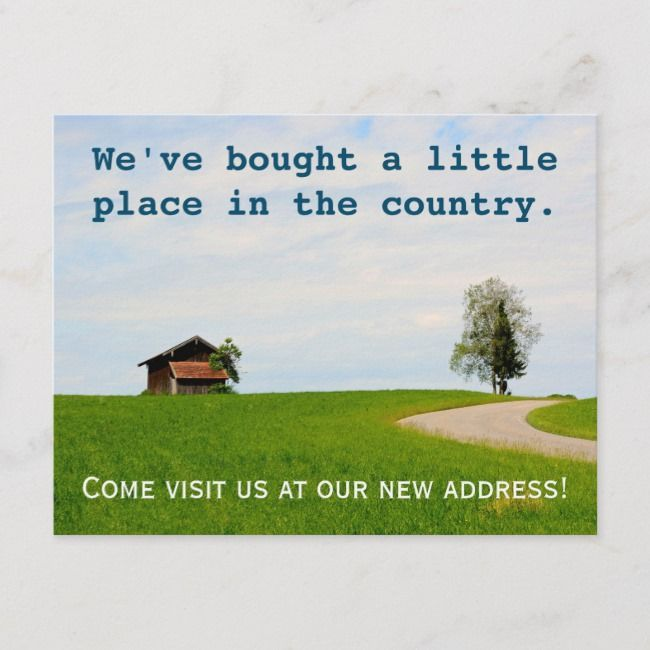 New Address  Weve moved  funny country house Announcement Postcard   New Address  Weve moved  funny country house Announcement Postcard