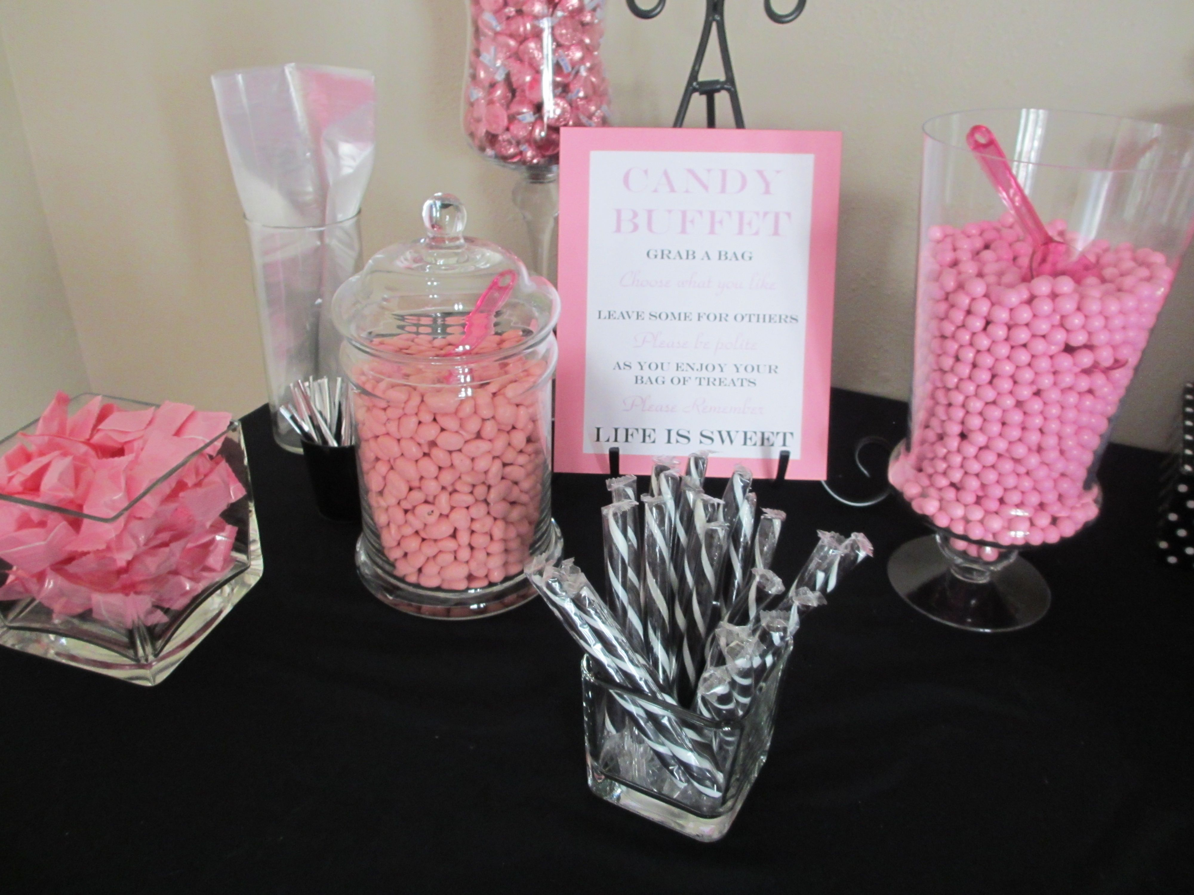 Superb Hot Pink And Black Baby Shower   Google Search