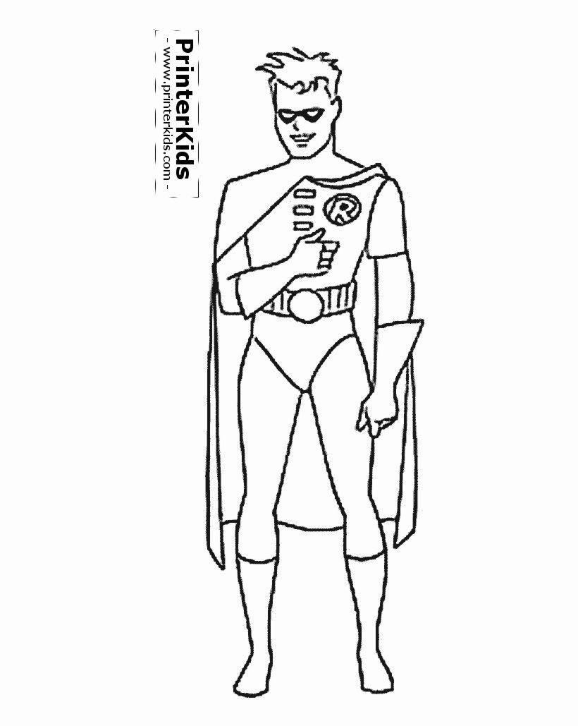 Batman And Robin Coloring Pages For Kids (Dengan gambar