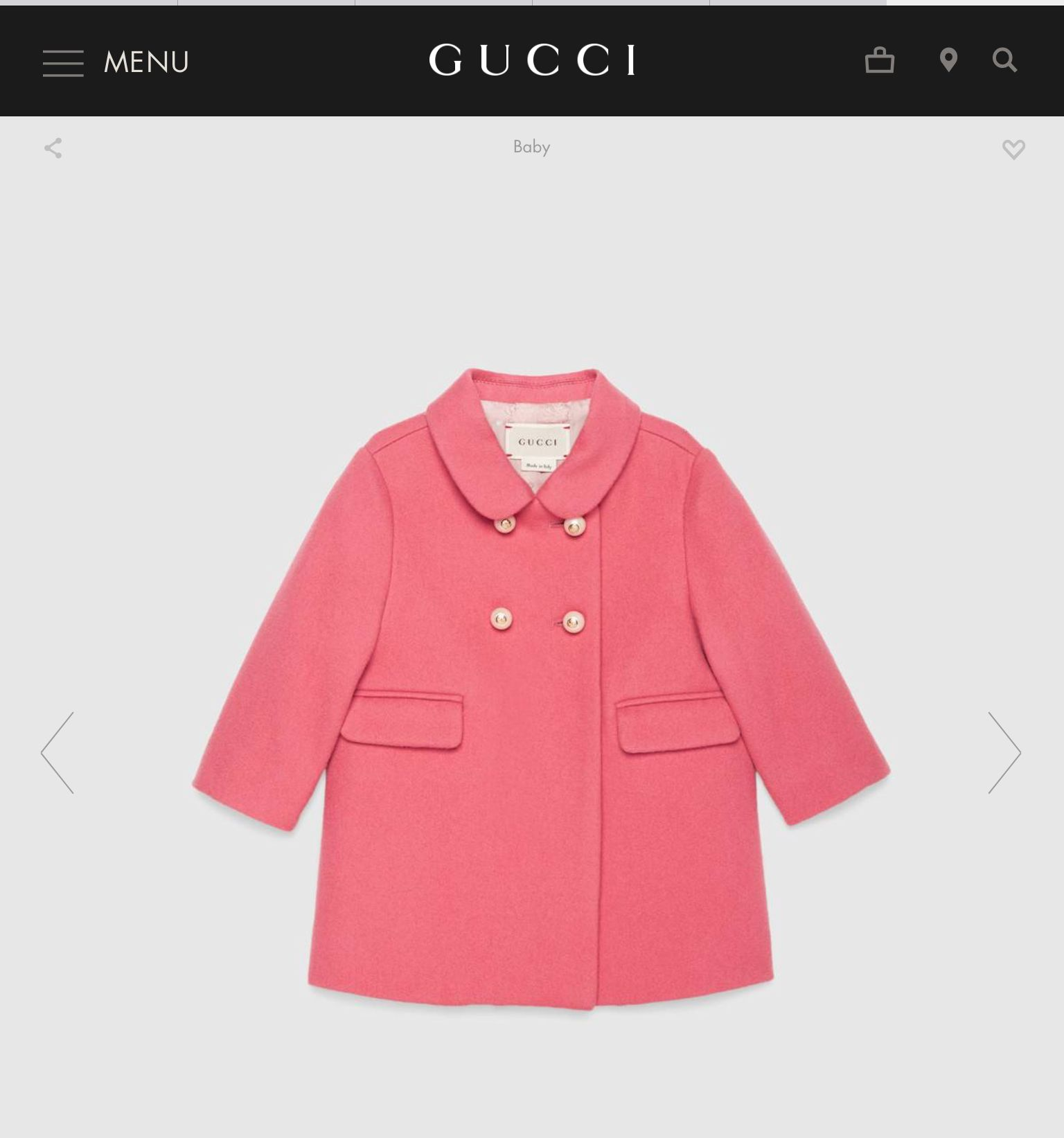 8491408df4 Little girls Gucci coat | THINGS FOR GIRLS | Gucci baby, Gucci coat ...