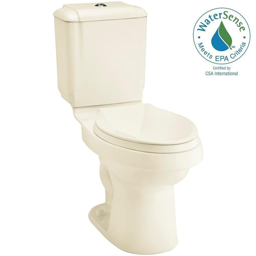 STERLING Rockton 2-piece 0.8 or 1.6 GPF Dual Flush Elongated Toilet in Biscuit