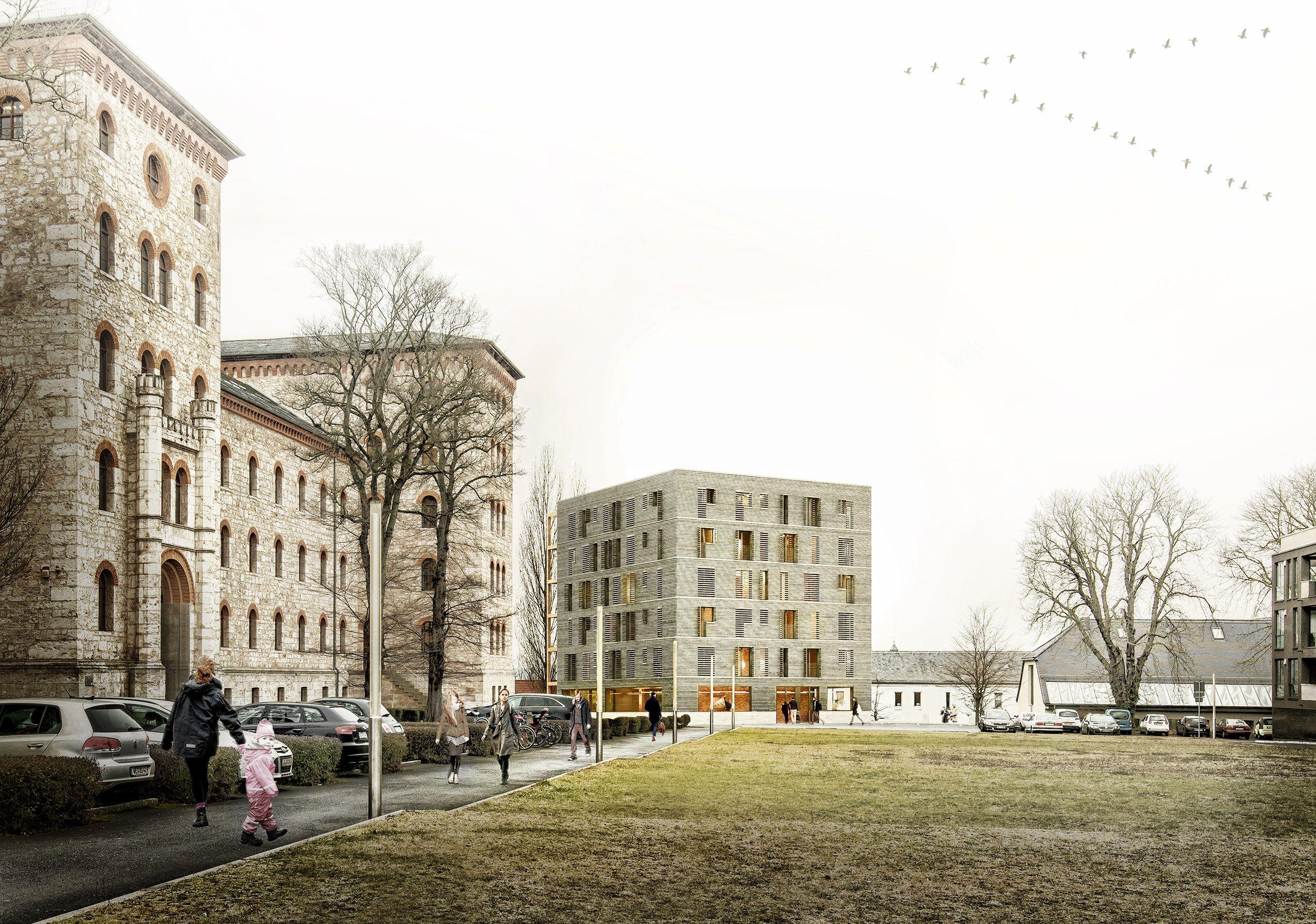 Architekturvisualisierung Berlin architektur wettbewerb weimar berlin deutschland holzbau