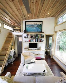 Wow This Layout Is Delightful Small Enough For A Tiny Home But Cozy Enough To Feel Like A Full S Tiny House Listings Tiny House Inspiration Tiny House Design