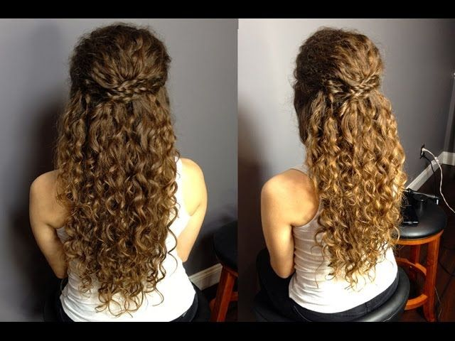 Half up half down updo for naturally curly hair easy braided half up half down updo for naturally curly hair easy braided hairstyle madscustomhairdesign solutioingenieria Gallery