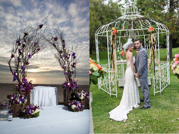Interesting ideas for wedding arch home decorating ideas for Decorating arches in house