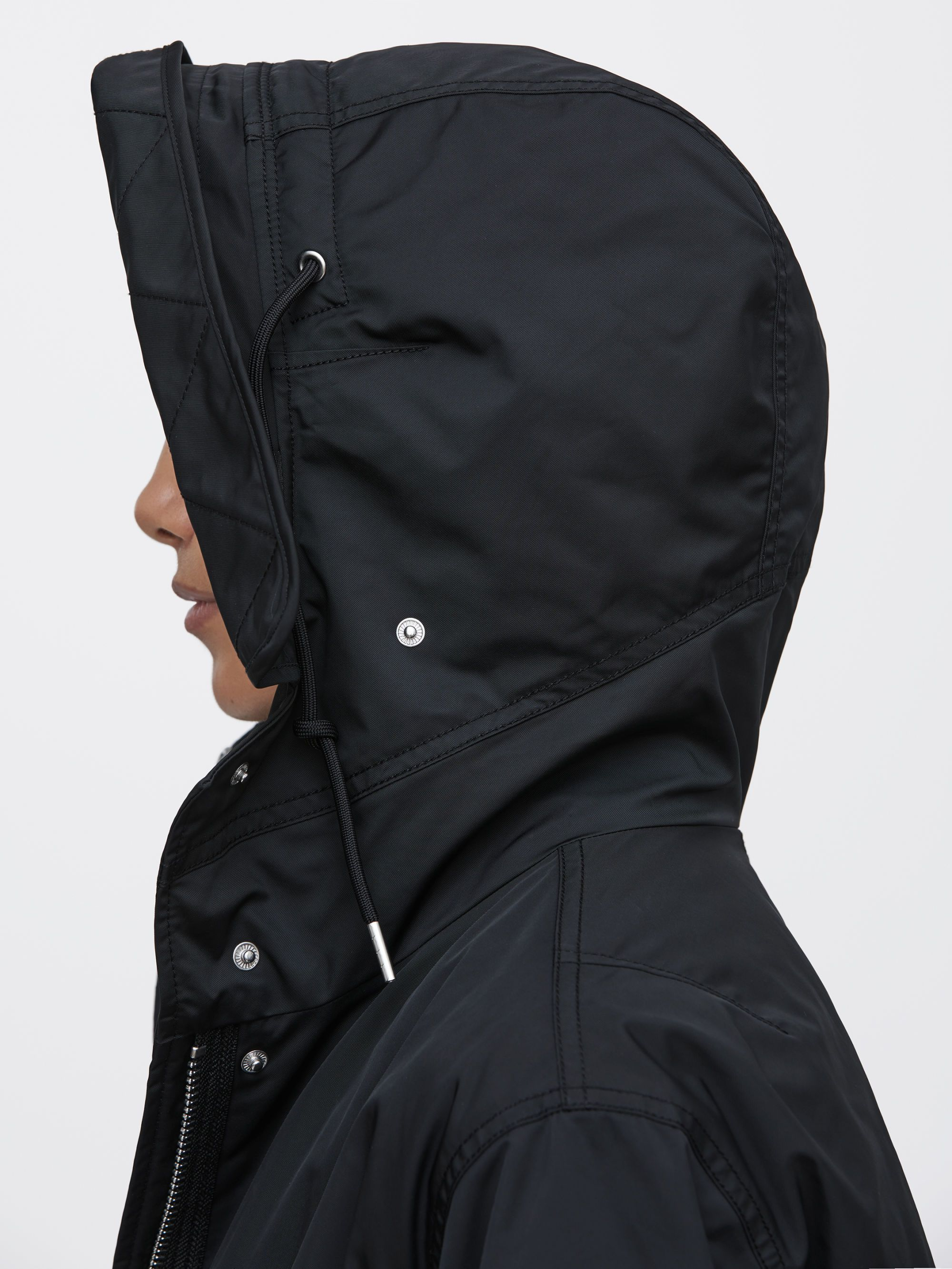 F&F Concealed Hood Padded Jacket