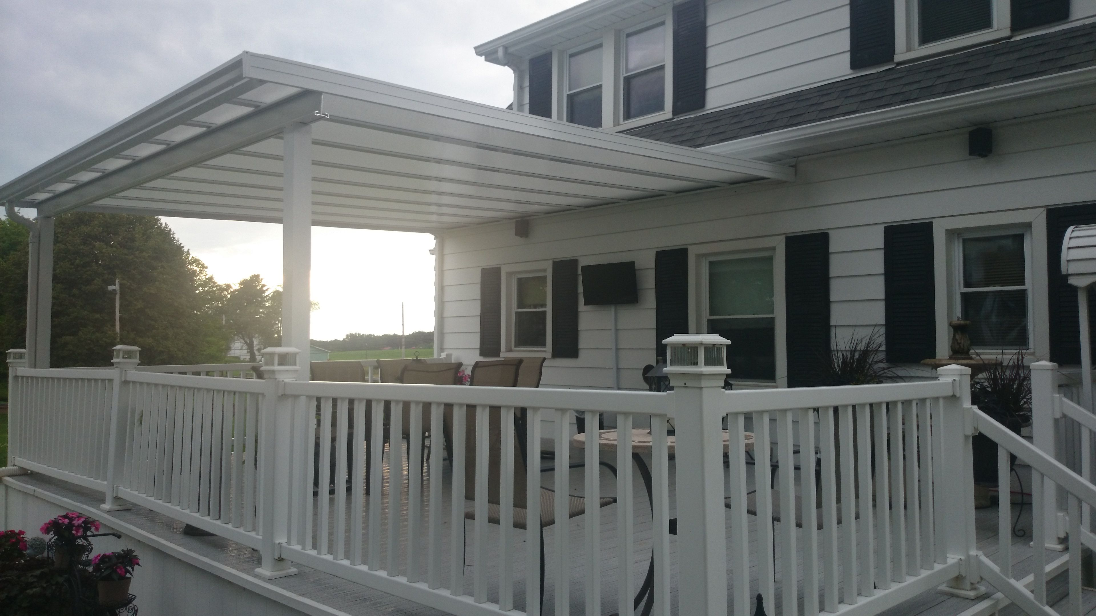 White On White Deck Cover Commercial Canopy Covered Patio Covered Decks