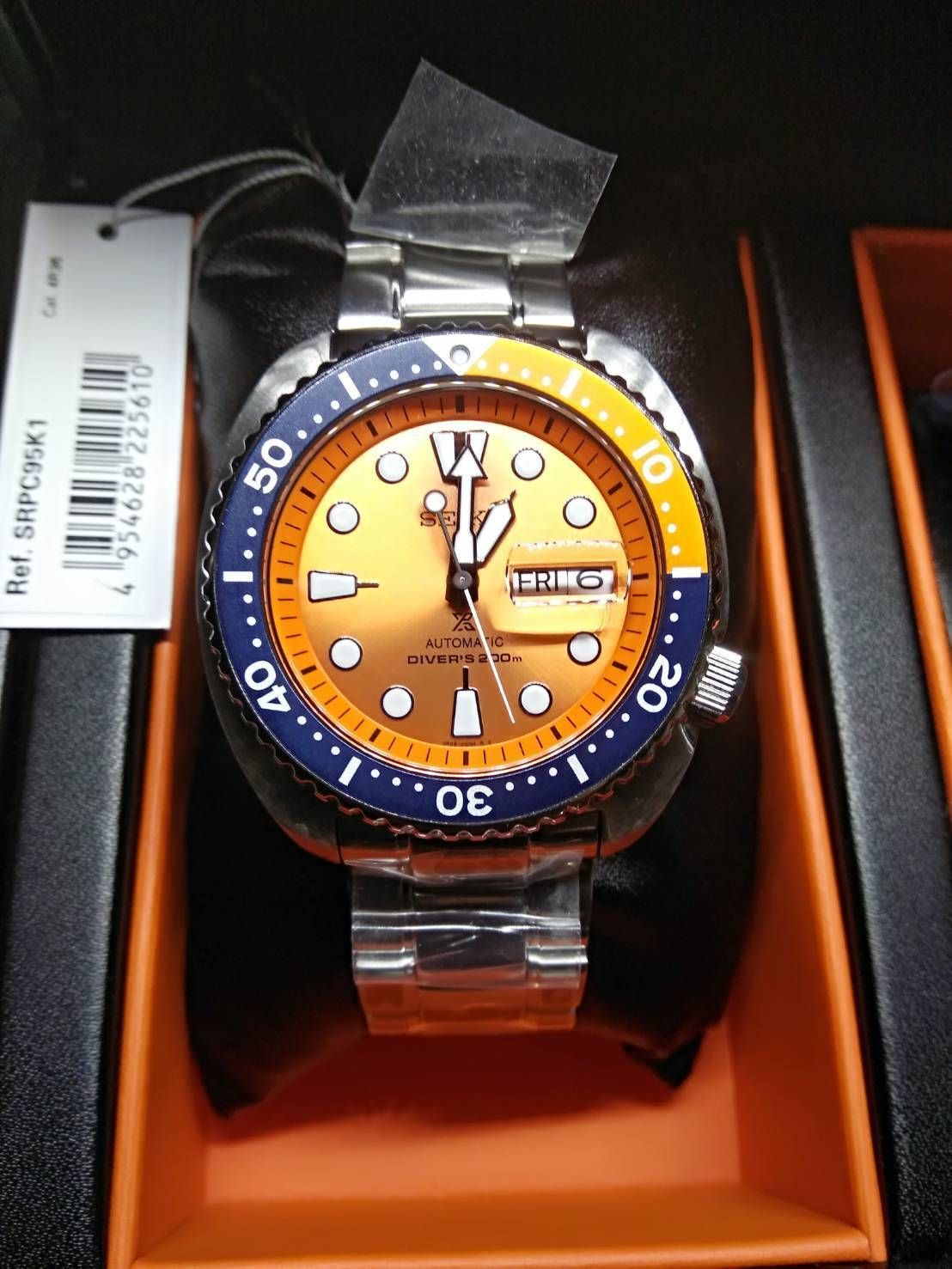 promo code 06687 38994 SEIKO New SRPC95K1 Orange Turtle Limited Edition with ...