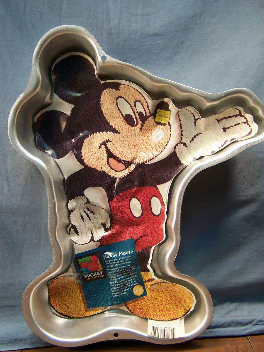 1995 wilton disney mickey mouse aluminum cake pan color