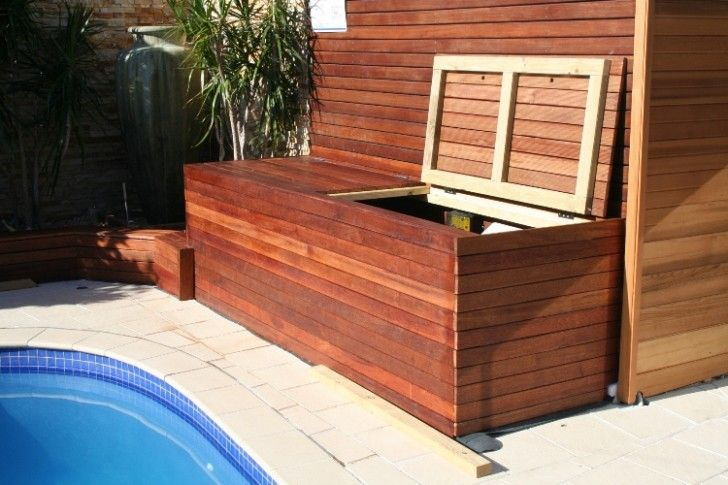 Pool Equipment Cover Ideas filter enclosures pool blanket boxes australia Storage Pool Equipment House In Wood Planks Material Wide Variants Of Pool Filter Covers