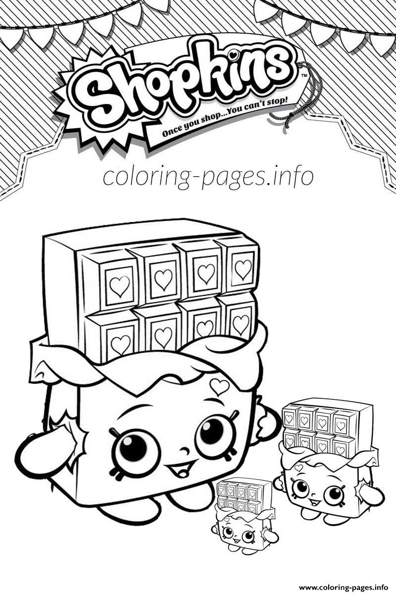 Print Shopkins Cheeky Chocolate And Babies Coloring Pages