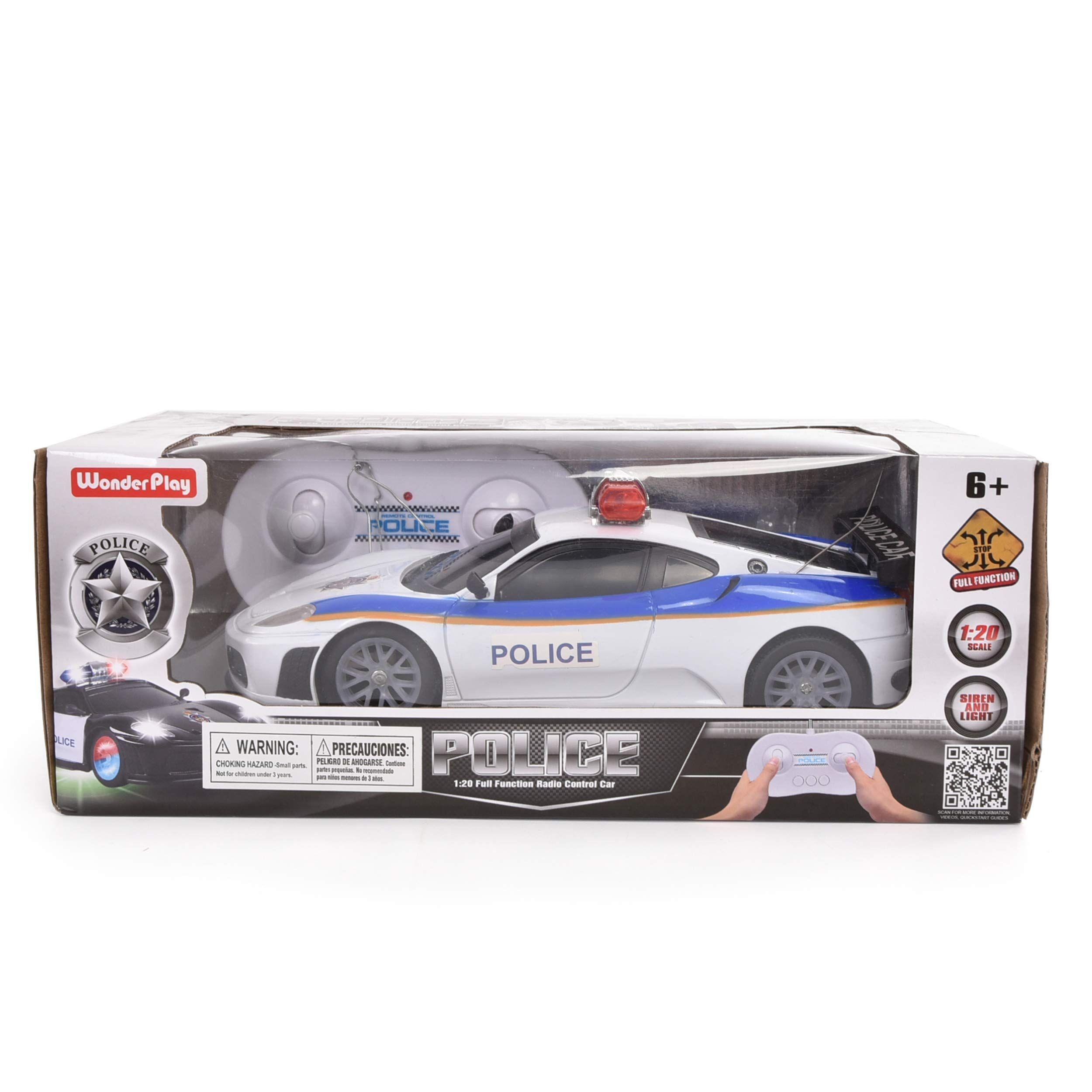 Wonder Play 1 20 Rc Police Car Remote Control Police Car