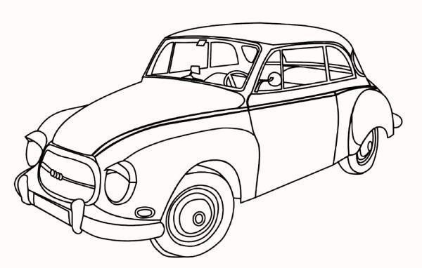 Printable Antique Cars Coloring Pages в 2020 г (с ...