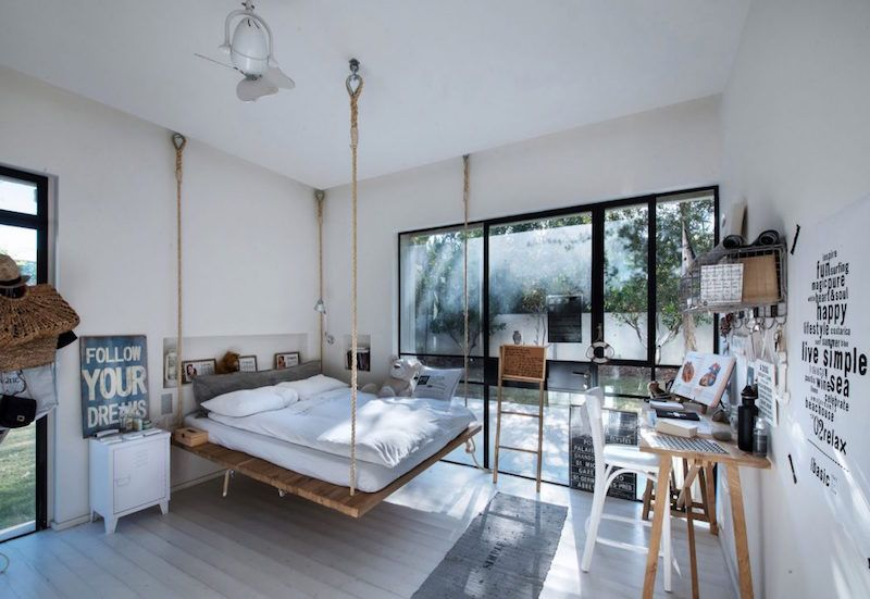 loft-tyylia-tel-aviv-makuuhuone