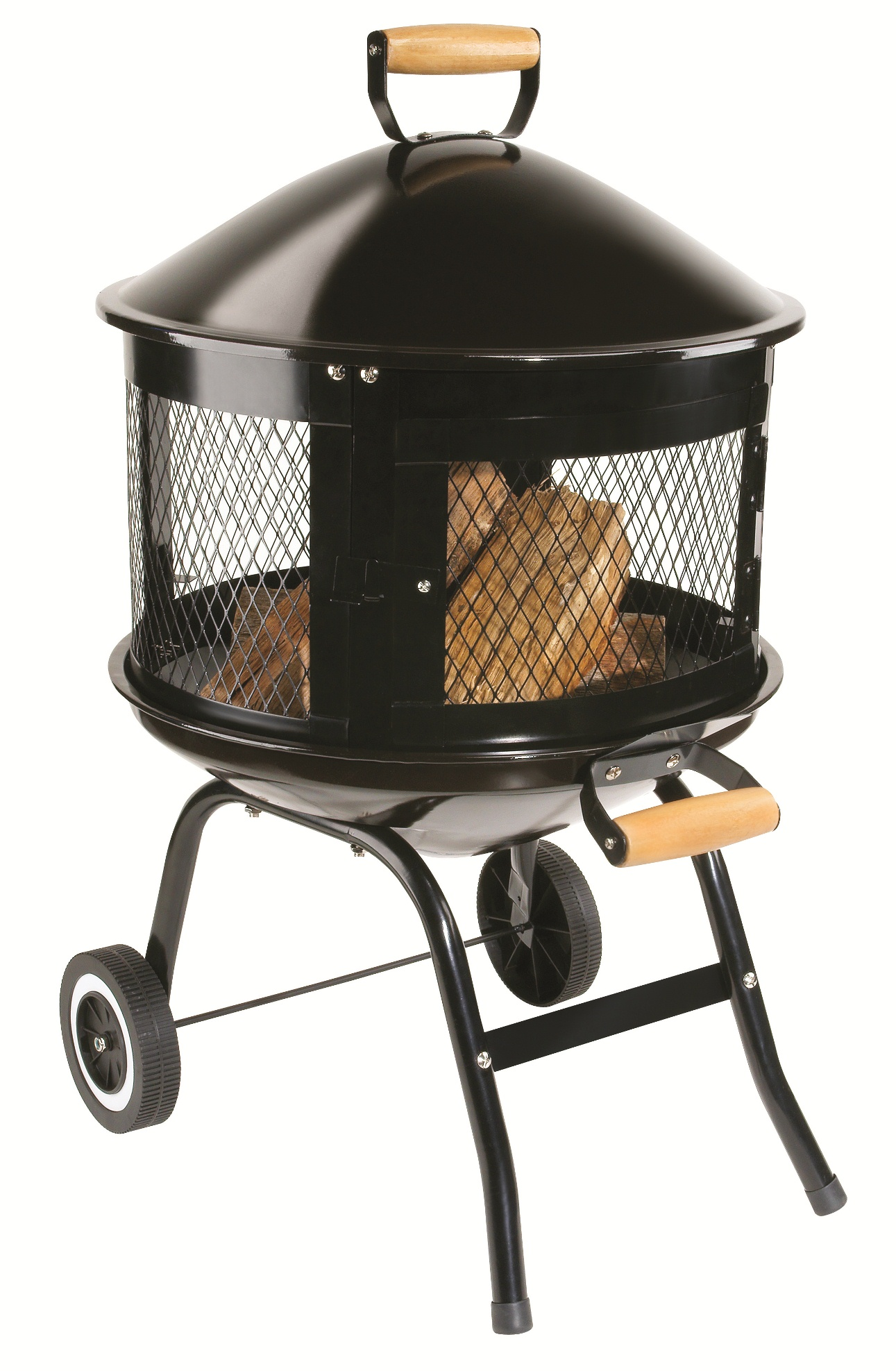 Lt P Gt Porcelain Coated Lid With Wood Handle Lt X2f P Gt Lt P Gt Enclosed Spark Screen With Hin Fire Pit Seating Modern Fire Pit Gazebo With Fire Pit