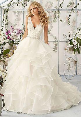 Details Zu Vintage Organza Hochzeitskleid Sheer Tull A Linie