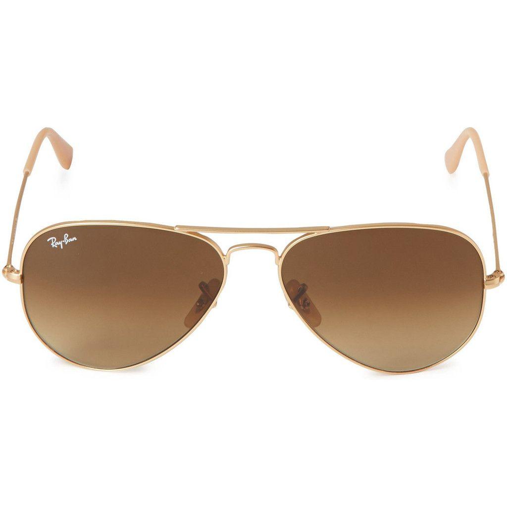 Ray-Ban RB3025 Aviator Sunglasses Gold Tone Frame Polarized Brown ...