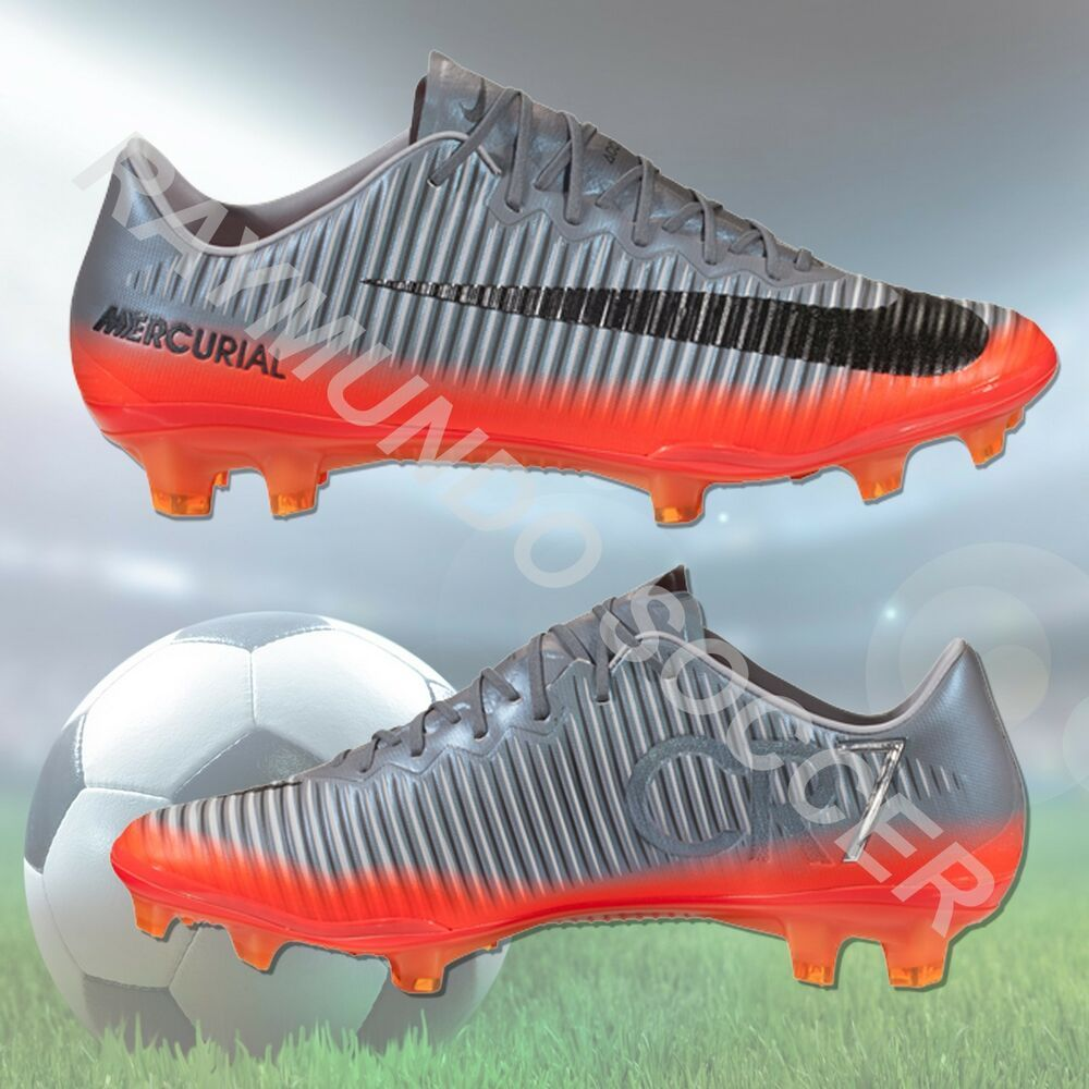 4bb4bc388 eBay  Sponsored Nike Mercurial Vapor XI CR7 FG Soccer Cleat - Cool Grey  Metallic