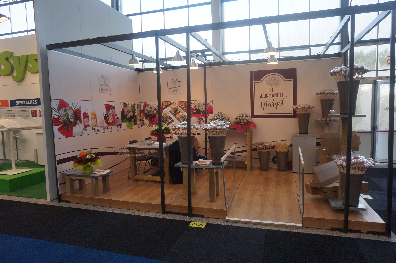 Présentation de la marque Les Gourmandises de Margot (GRD Floral) au salon IFTF (International Floriculture and Horticulture Trade fair) près d'Amsterdam.