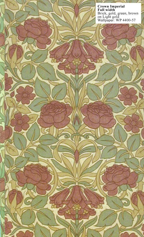 Craftsman reproduction wallpaper Crown Imperial. This