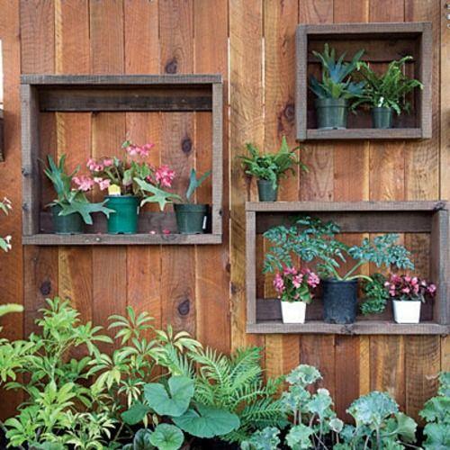 Coole Gartendeko blumen pflanzen holz regale blumentopf - gartendekoration aus holz