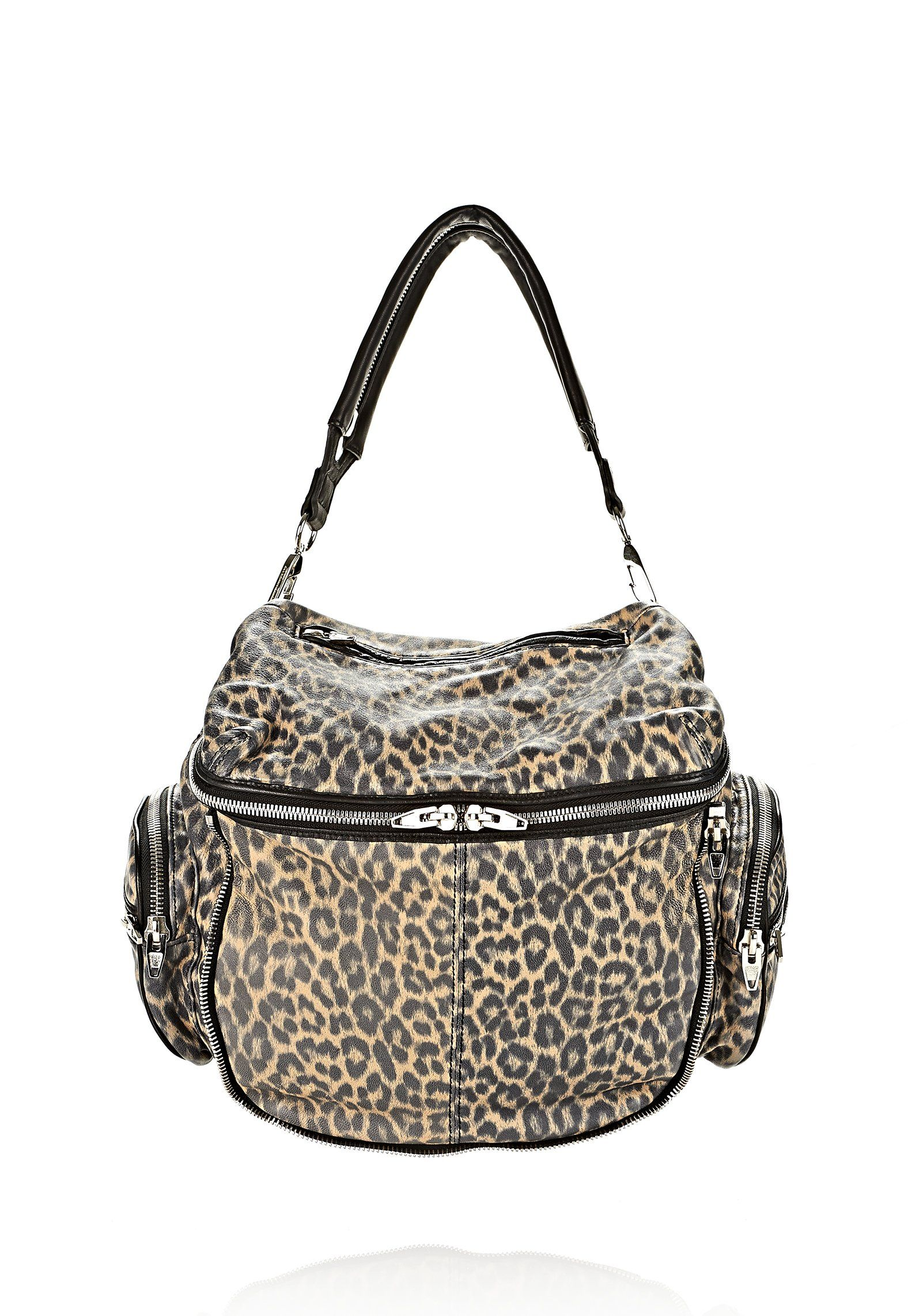 Beige Jane In Beige Leopard Print With Nickel - Alexander Wang
