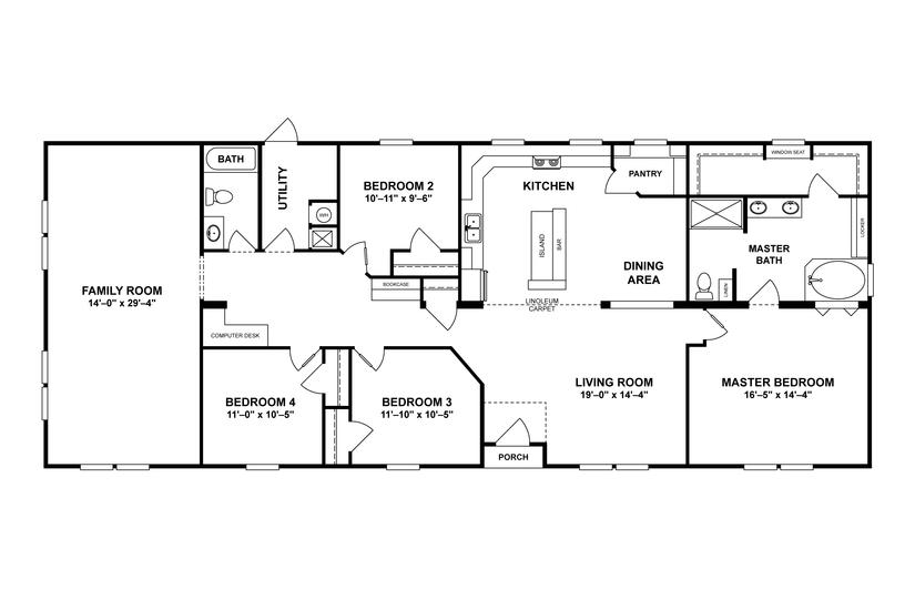 Home Details Oakwood Homes Of Farmville Mobile Home Floor Plans Rectangle House Plans Modular Home Floor Plans