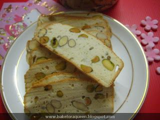 Thin & Crisp Almond Pistachio Biscotti (Aspiring Baker # 3) by Bake for a Queen